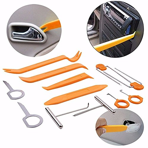 fomccu 12  Kunststoff Auto Car Panel entfernen Kits fü r Auto Radio Tü r Clip Panel Trim Dash Audio Removal Installer Pry Tool Reparatur Set