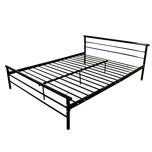 WALCUT Heavy Duty Bed Frame Queen Size, Metal Frame Bed Headboard Footboard, Platform Bed Mattress Support Foundation Adults Kids, No Box Spring Needed