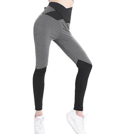 VJGOAL Mujeres Moda Casual Cintura Alta Cómodos Pantalones de Yoga ...