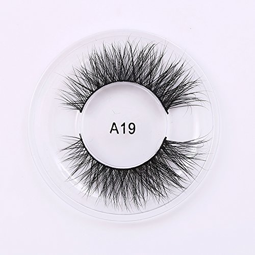 Private Label 3D Mink Eyelashes regular strip normal eyelashes Natural lashes A19, sold by lot(10 boxes)