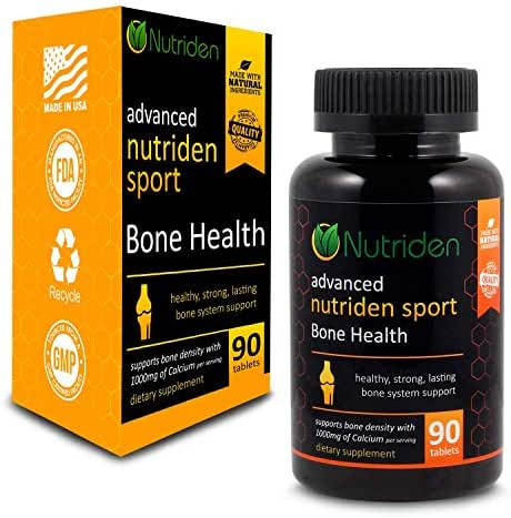Nutriden Sport Bone Health Calcium Supplement - Easy to Swallow - No Horrible After Taste - Easy On The Stomach (90 Pills)