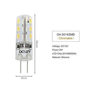 glow bombilla Dimmable Led G4 3W 5W 6W Lámpara Dc 12V Bombilla Reemplazar 20W 30W 40W