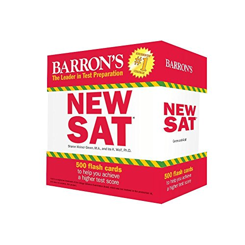 Pdf Test Preparation Barron's NEW SAT Flash Cards: 500 Flash Cards to Help You Achieve a Higher Score