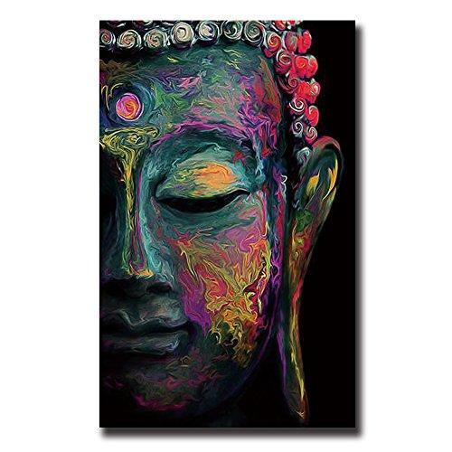 TONZOM Canvas Wall Art Waterproof Artwork Decoration for Living Room(Buddha,16x24inch) -
