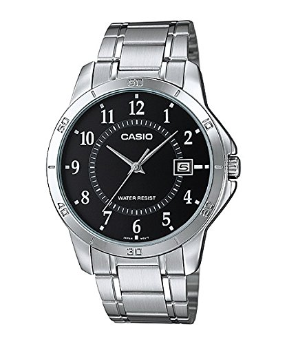 - Casio MTP-V004D-1B Black Dial Stainless Steel Watch