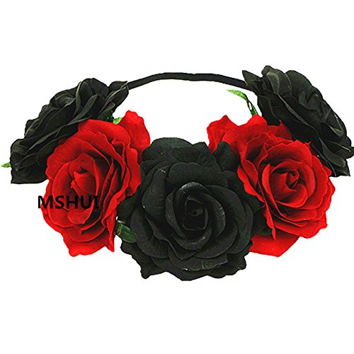 MSHUI Women's Hawaiian Stretch Flower Headband for Garland