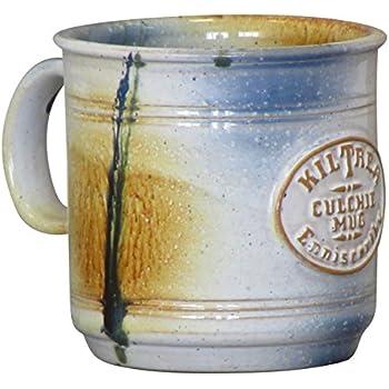 "Irish ""Culchie Mug"" Blended Native Irish Clay Hand-Glazed Hand-Thrown Pottery Coffee Cup 450ml"
