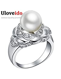 Cherryn Jewelry Fashion Jewelry Womens Accessories Pearl Ring Aneis Aneis de Diamante Bague Women Ouro J382