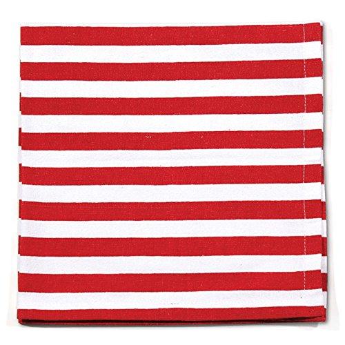 Patriotic Petals - Patriotic Stripe Napkin, 18-Inch, Red and W