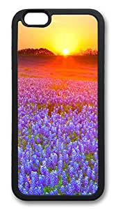iPhone 6 Cases and Covers - The Sunset Purple Flowers TPU Silicone Case for Apple iPhone 6 4.7inch - Black