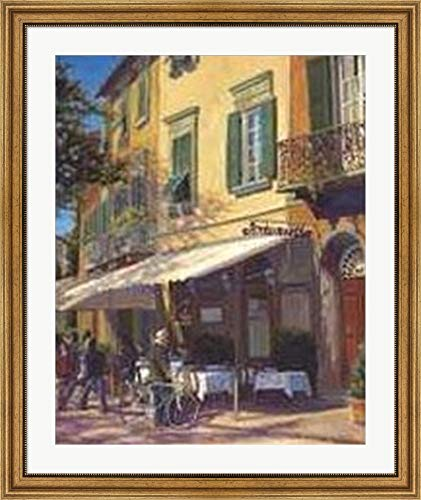 Used, Cafe Capri II by P. Moss Framed Art Print Wall Picture, for sale  Delivered anywhere in USA