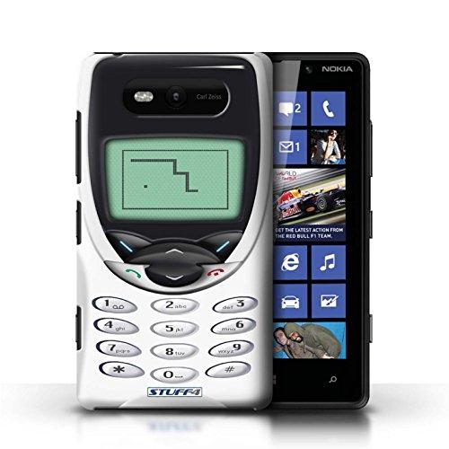 Etui / Coque pour Nokia Lumia 820 / Nokia 8210 blanc conception / Collection de Portables rétro