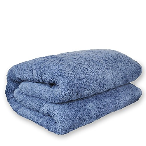 BC BARE COTTON Luxury Hotel & Spa Towel Turkish Cotton Oversized Bath Sheets - Wedgewood - (40x80 inches, Set of 1)