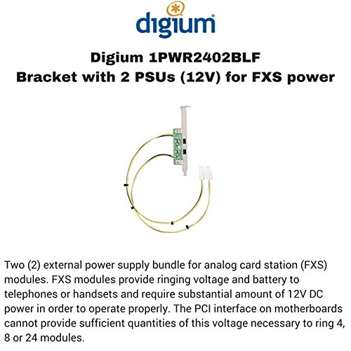 (Digium Two External Power Supply Bundle for Analog Card Station FXS Modules 1PWR2402BLF)