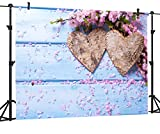 OUYIDA 7X5FT Valentine's Day Theme Pictorial Cloth Photography Background Computer-Printed Vinyl Backdrop VDD015