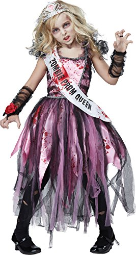 California Costumes Zombie Prom Queen Costume, Pink/Black, X-Large -