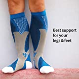 HAOLONGLY 3pairs Knee High Compression Socks for