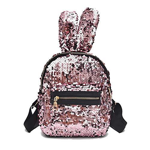 Pu AgooLar Casual Women's Zippers GMDBA203250 Pink Bags Dacron Black Shoulder xIqACIr