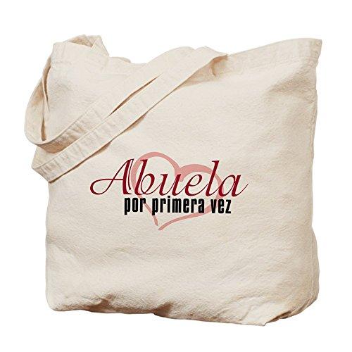 Cafepress–Abuela, rosa–Borsa di tela naturale, tessuto in iuta