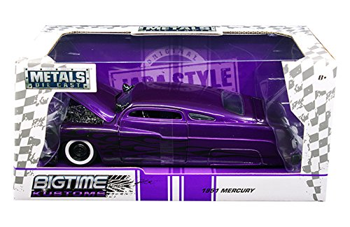 Jada 99061 1951 Mercury Purple with Flames Big Time Kustoms 1/24 Diecast Model Car