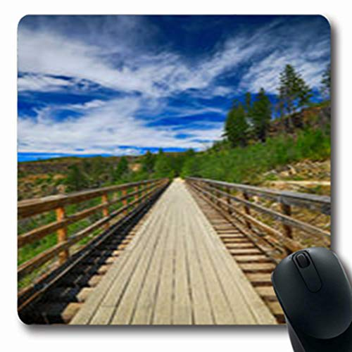 Pandarllin Mousepads Sunny Kelowna Trestles On Bridge Day Holidays Activityfamous Parks Outdoor Brown Oblong Shape 7.9 x 9.5 Inches Oblong Gaming Mouse Pad Non-Slip Rubber - Slip Myra