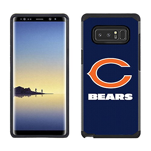 Prime Brands Group Cell Phone Case for Samsung Galaxy Note 8 - NFL Licensed Chicago Bears Textured Solid Color (Chicago Nfl Bears)