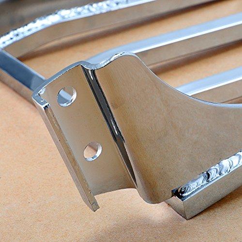 Detachable Chrome Sport Sissy Bar Luggage Rack For Harley Dyna Wide Super Glide FXDB FXDL Softail Heritage Springer FLSTF FLST FLSTC FLSTSC Sportster Iron 883 1200 by Motorgogo (Image #6)