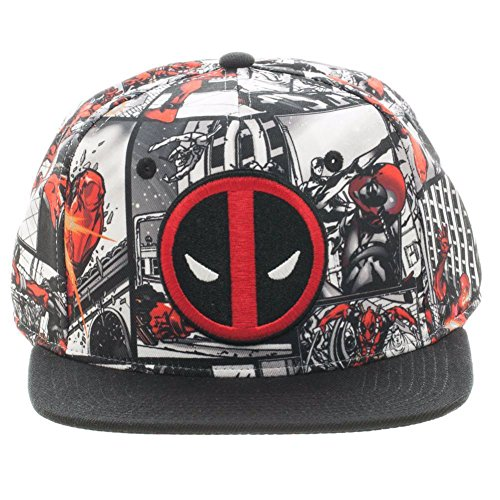 Marvel Comics Deadpool Comic Book Panels Sublimated Snapback]()