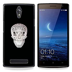 Ihec Tech Cráneo Impreso;;;;;;;; / Funda Case back Cover guard / for OPPO Find 7 X9077 X9007