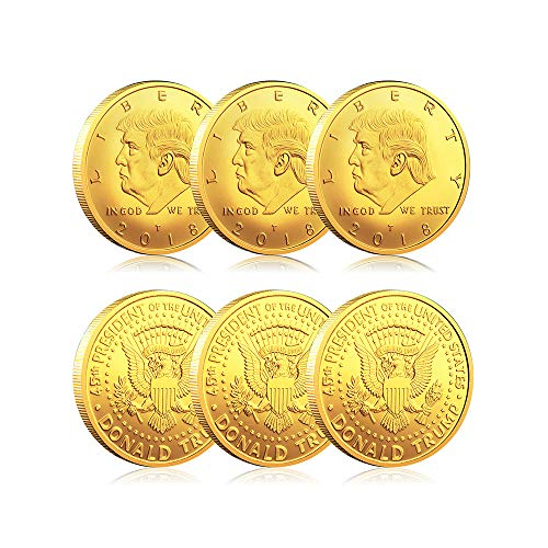 Kortes 6 Pack Donald Trump Coin 2018 Commemorative Novelty Coin Patriots Collection Gifts 45th President of The United States