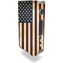 Kangertech KBOX 160W TC Vape E-Cig Mod Box Vinyl DECAL STICKER Skin Wrap / American Flag Grunge Vintage