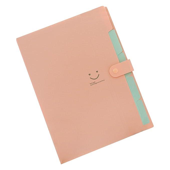 Amazon.com : TOOGOO(R) Kawaii FoldersStationery Carpeta File Folder 5layers Archivadores Rings A4 Document Bag Office Carpetas£¨Pink£ : Office Products