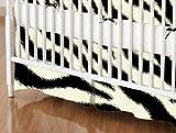 SheetWorld - Crib Skirt (28 x 52) - Zebra - Made In USA