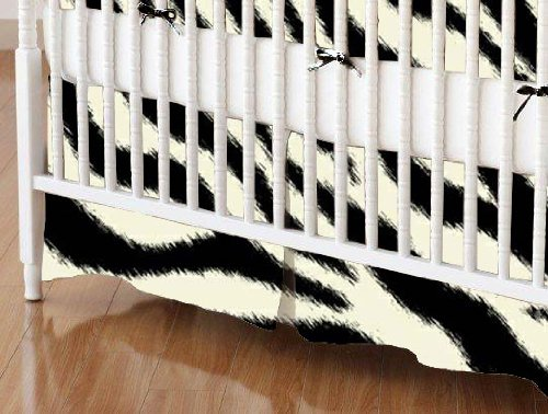 SheetWorld - Crib Skirt (28 x 52) - Zebra - Made In USA