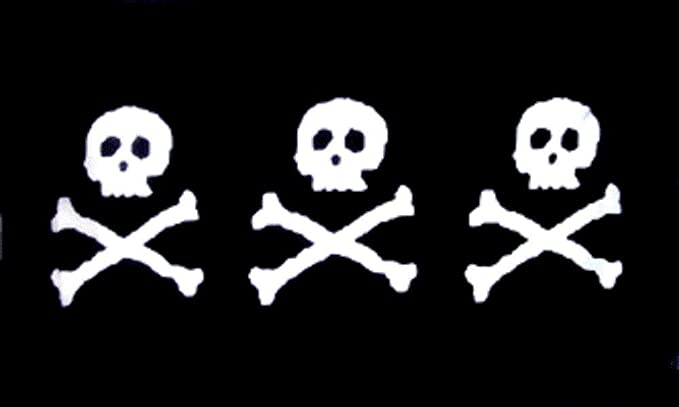 Pirate Stede Bonnet The Gentleman Pirate Skull and Crossbone 5/'x3/' Flag