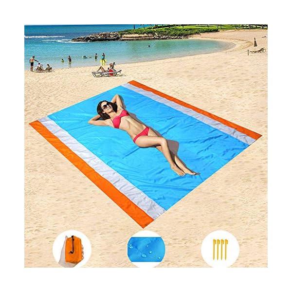 YZCX Coperta da Picnic Spiaggia Extra Grande 210x200cm Impermeabile Durevole Portatile Leggero Tappeto per PIC-nic… 6 spesavip