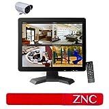 ZNC 15 Inch CCTV TFT LCD Monitor BNC HDMI VGA USB Input Display Computer Screen