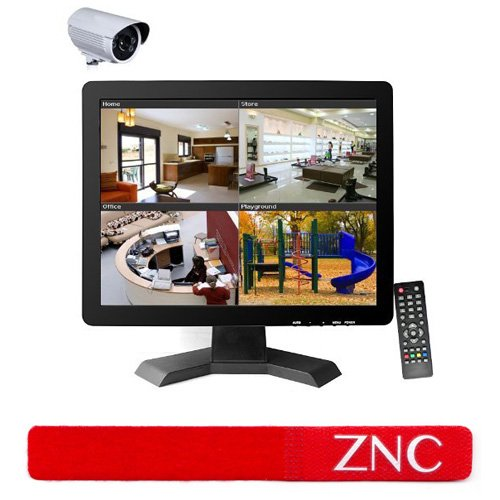 ZNC 15 Inch CCTV TFT LCD Monitor BNC HDMI VGA USB Input Display Computer Screen