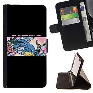 Momo Phone Case / Flip Funda de Cuero Case Cover - Manly Cosas;;;;;;;; - Samsung Galaxy Note 4 IV
