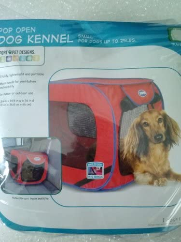 SportPet Designs Travel Pop up Crate Red for Dogs