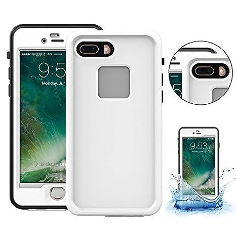Waterproof Case para iPhone 7 Plus / 8 Plus, Vandot Funda Impermeable Certificado IPX8 para móvil iPhone 7 Plus / 8 Plus 5.5 Anti-agua A Prueba de ...