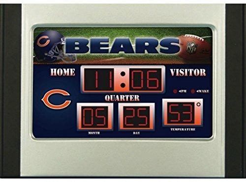 Bear Desk Clock (NFL Chicago Bears Scoreboard Desk Clock)