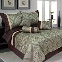 Lavish Home 66-0009-Q 7-Piece Queen Geneva Comforter Set