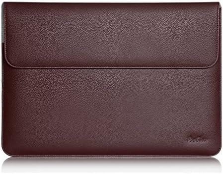 ProCase 10.2 Pouces Housse en Cuir Pochette de Protection Ordinateur Portable pour Macbook Pro 13//Macbook Air 13.3//Surface Laptop 13.5//Surface Book 13.5 ou d/'autres Mod/èle de 13 /à 13.5-Marron