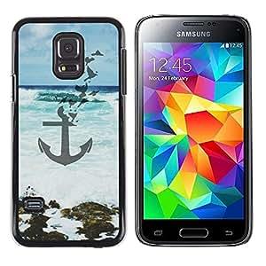Be Good Phone Accessory // Dura Cáscara cubierta Protectora Caso Carcasa Funda de Protección para Samsung Galaxy S5 Mini, SM-G800, NOT S5 REGULAR! // Blue Sea Waves Art Beach