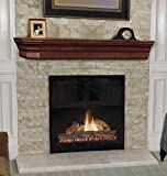 Pearl Mantels 490-72 Lindon Wood 72-Inch