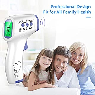 Forehead Thermometer for Adults, Non-Contact Infrared Baby Thermometer for Adults, Digital Body and Surface Thermometer 2 in 1 Dual Mode Medical Thermometer