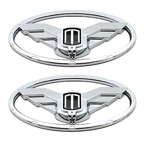New 3D Eagle Emblem Chrome Edition Set 2pc Front + Rear (Fit: Hyundai Genesis Coupe)
