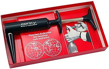 CORKY Sacacorchos a presión original caja regalo – El único y original desde 1965 – Fabricado en Suiza.