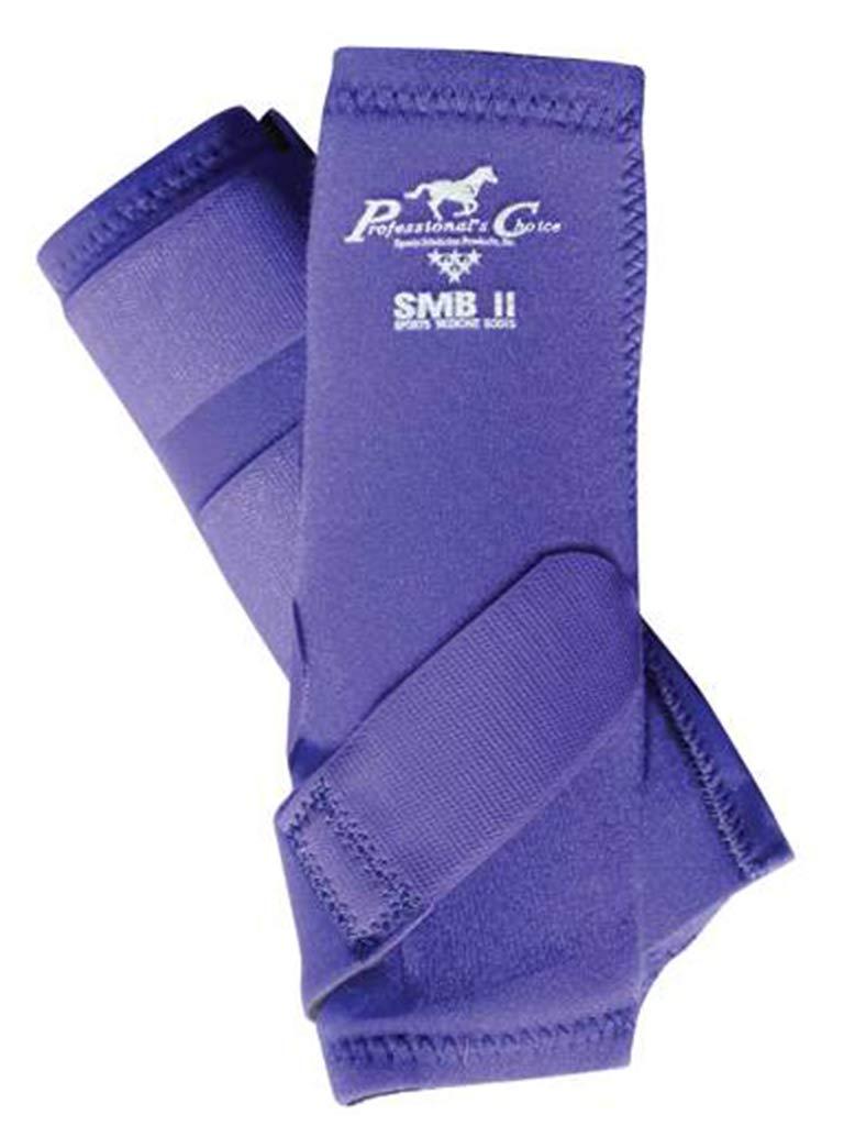 Professionals Choice 馬用SMBII レッグブーツ 1組 B00UI0BN4Y Large|パープル パープル Large